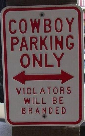 #Cowboy parking