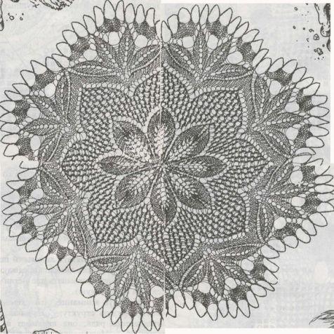 Салфетки спицами со схемами