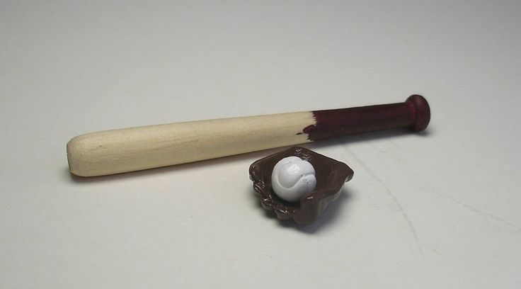 17 best images about miniature sports on pinterest for Mini baseball bats for crafts