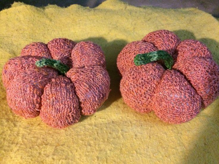 Knit and crochet pumpkin | My handmade stuff | Pinterest | Crochet ...