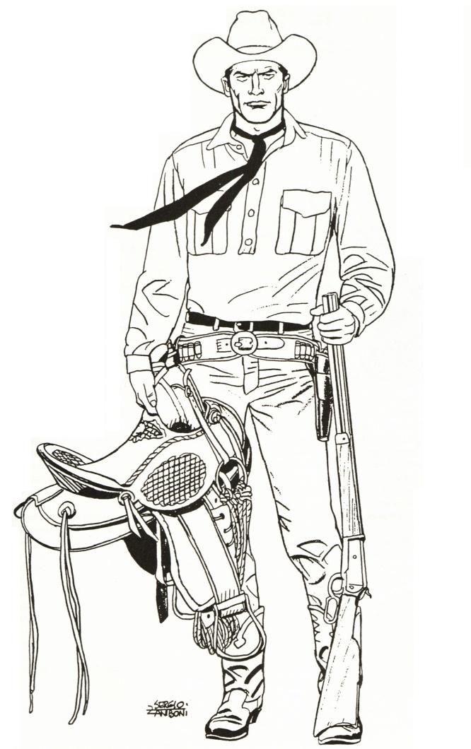 O Tex De Sergio Zaniboni Com Imagens Desenhos Para Colorir
