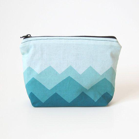 zipper pouch - an original design 'mountain'. giclee printed cotton on Etsy, ¥1,800.00