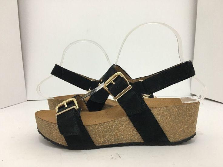 Gabor Gabor 2.3781 Schwarz Black Suede Women's Wedge Heels Platform Sandals  US ...