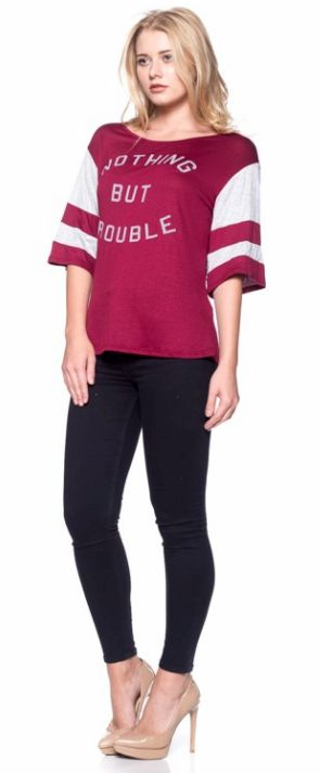 Nothing But Trouble - Jersey Tee