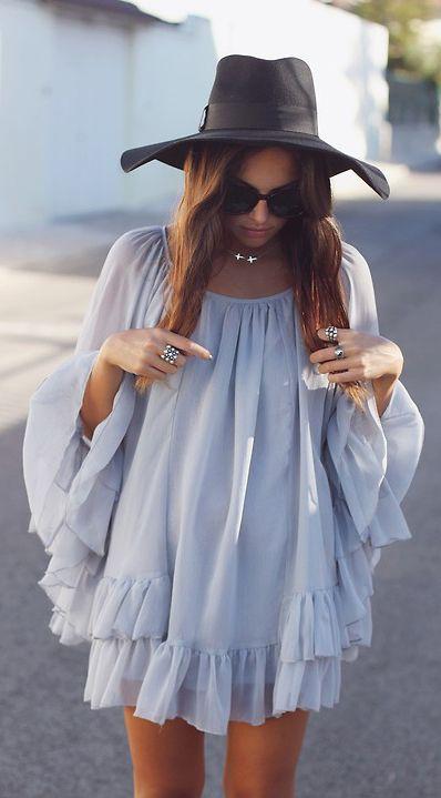 Ruffled BoHo Style   Via ~LadyLuxury~