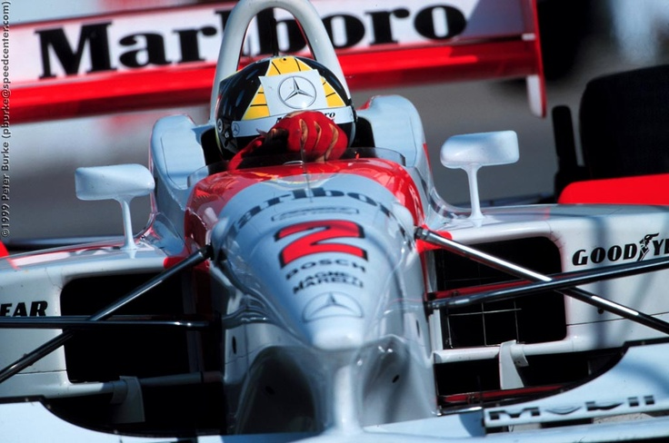 Tarso Marques in the 1999 Penske. The last bespoke CART car they made. After the failure of this car and increased costs, they went for a Reynard