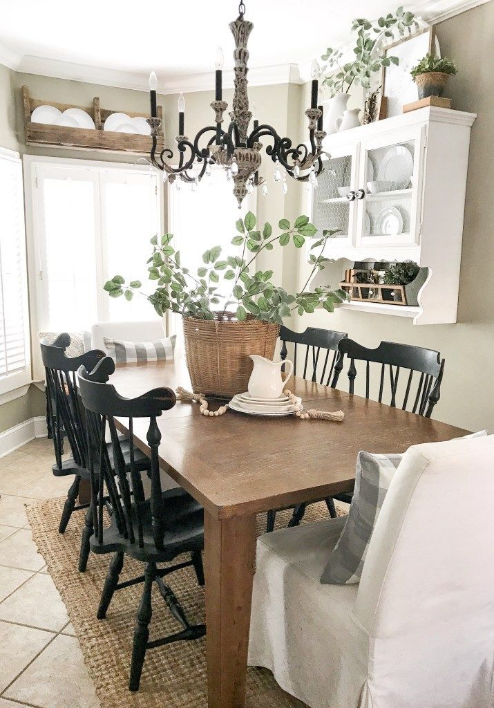Kitchen Eating Area Refresh Farmhouse Style Dining Room