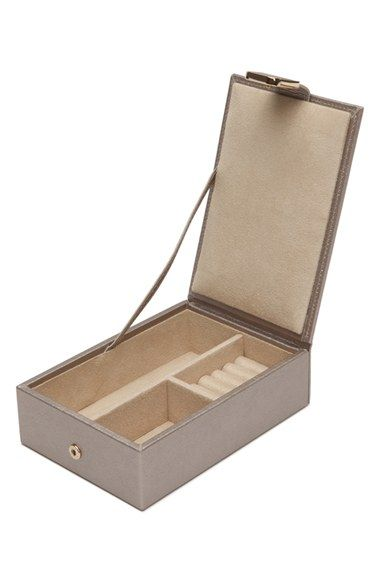 Free shipping and returns on Wolf 'Palermo - Pebble' Travel Jewelry Box at Nordstrom.com. Lustrous metallic leather defines a structured case that keeps your jewelry organized and looking its best thanks to the anti-tarnish LusterLoc lining.