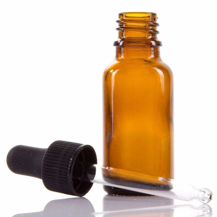 Glass Pipette Dropper Bottle 10ml Liquid Eye Ear Aromatherapy Oils Juice