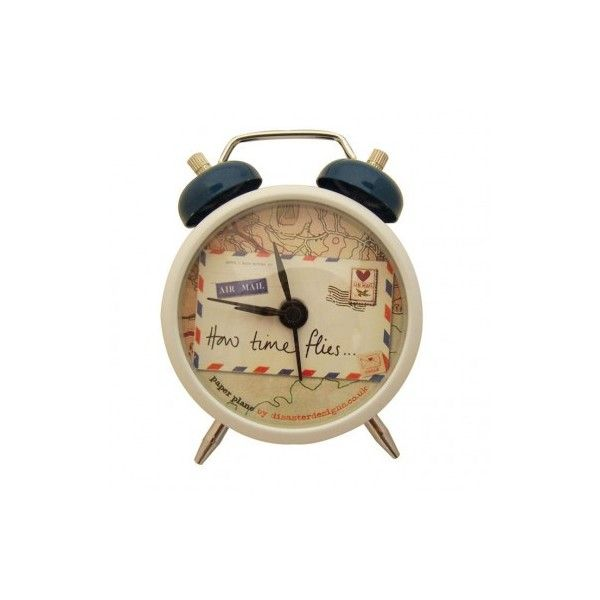 Paper plane alarm clock : Gift : Products : Aspire Style  ... ($16) found on Polyvore