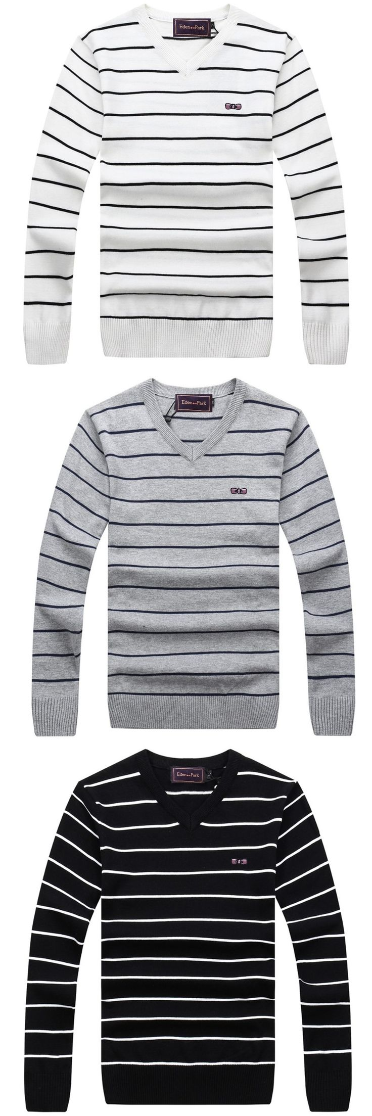 09c722a43f3 EDEN PARK MEN S SWEATER KNITTED PULLOVER V-NECK SPRING WINTER BRAND HORSE  AND MARTINA LEISURE