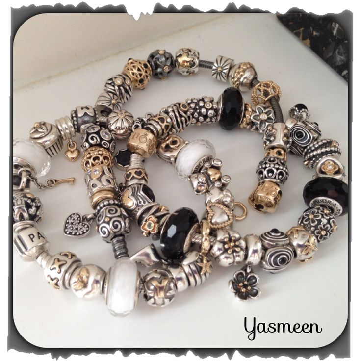 Love black and white PANDORA. Black Pandora bracelet Bijoux et charms à retrouver sur www.bijoux-et-charms.fr