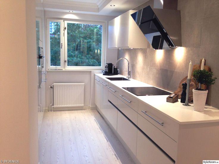 Before and after - home decorating (in Swedish) kök,modernt,hth,design,betongkakel
