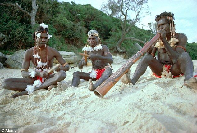 Australian Aborigines, like those pictured above, are thought to be descended from one of the earliest groups of modern humans to migrate out of Africa. It seems as well as colonising Australasia, they also extended as far away as South America, leaving a their mark in the DNA of native people living in the Amazon today