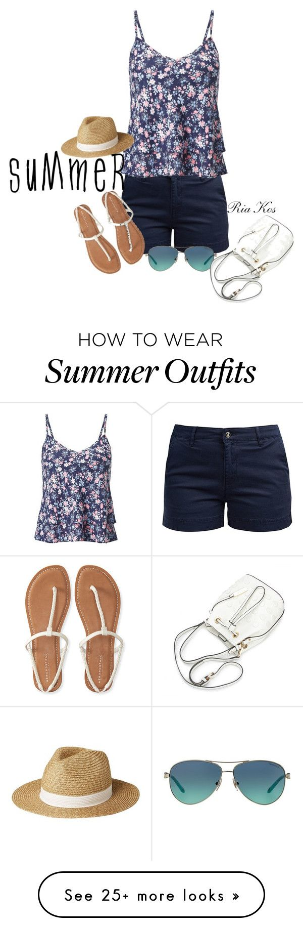 """""""summer outfit"""" by ria-kos on Polyvore featuring Barbour, Miss Selfridge, Aéropostale, Tiffany & Co. and Lipsy"""