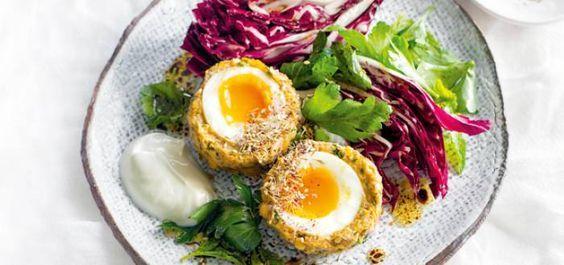 Falafel Scotch Eggs with Radicchio and Herb Salad | Vegetarian | MiNDFOOD