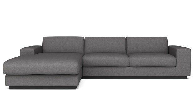 Sepia sofa fra Bolia, nok i en lidt mørkere farve .