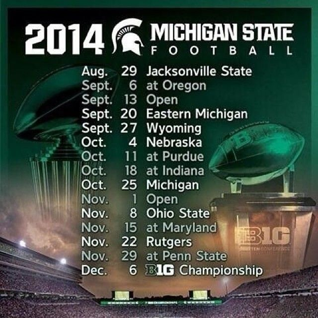 Spartan fans, which game are you most excited for this season?! #msufootball #spartans #gogreen