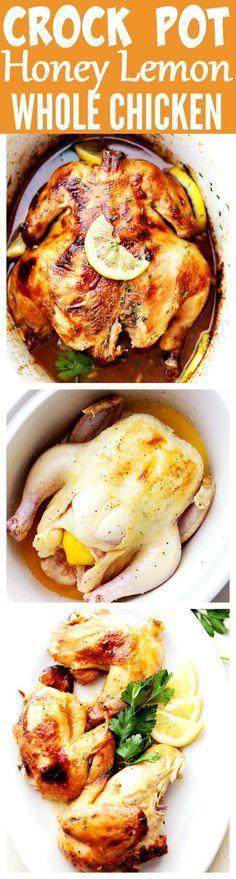 CROCK POT HONEY LEMON CHICKEN RECIPE | Food And Cake Recipes
