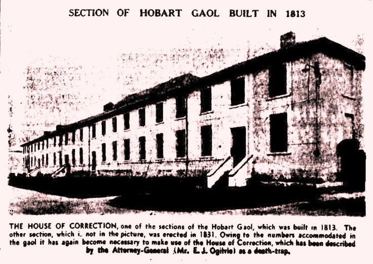 Van Diemen's Land - List of Prisoners Executed at Hobart Town - 1 January 1823 to 1 January 1827