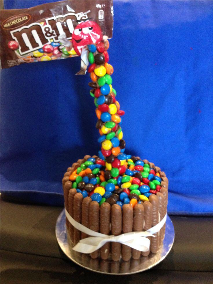 For Rahni Vivian Feb 2017 M&m anti-gravity cake