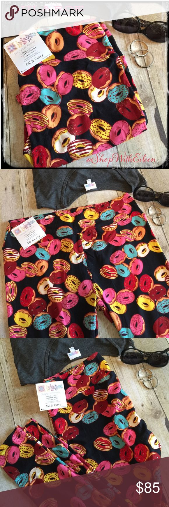 LulaRoe DONUTS DONUTS DONUTS Leggings TC   LulaRoe DONUTS DONUTS DONUTS Leggings TC ~ HUGE  These are great leggings! EVERYBODYS  looking for DONUTS!!!  Hurry grab them while you can... Hot off the press! These are made in Vietnam. * I am not a consultant… I am just a LulaRoe addict and love the hunt to find great prints! Enjoy!   LuLaRoe Pants Leggings