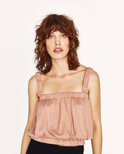 Image 2 de TOP COURT À BRETELLES de Zara