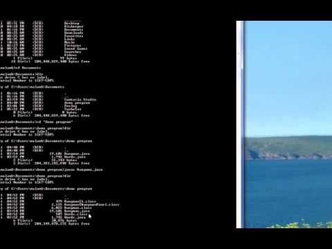 Java Program with Windows Command Line