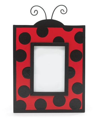 Take a look at this Red & Black Ladybug Picture Frame by burton + BURTON on #zulily today!