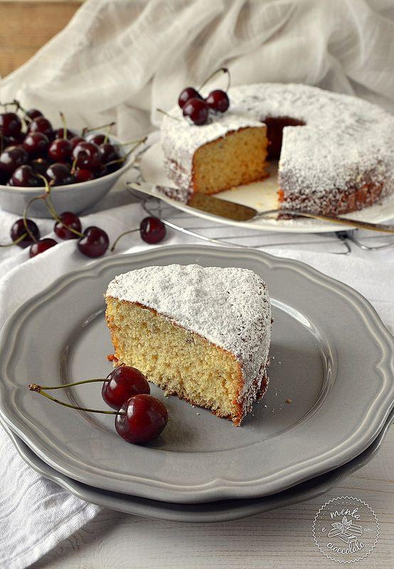 Menta e Cioccolato: Torta con yogurt alla ciliegia o meglio, torta 7 vasetti - Facilissima!