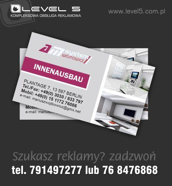 Projektowanie oraz drukowanie wizytówek w Lubinie.