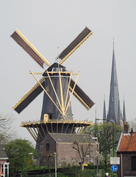 Flour mill De Windhond, Woerden, the Netherlands