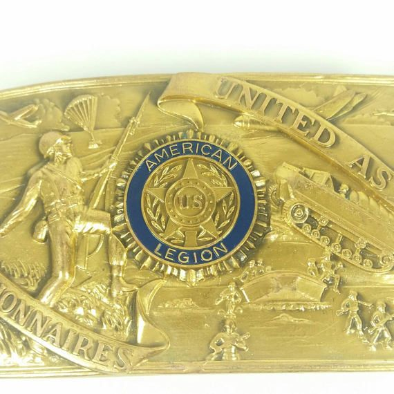 Hey, I found this really awesome Etsy listing at https://www.etsy.com/listing/526643976/american-legion-brass-belt-buckle