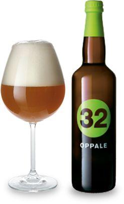 Cerveja Oppale, estilo Belgian Pale Ale, produzida por 32 Via dei birrai, Itália. 5.5% ABV de álcool.
