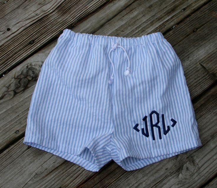 tinytulip.com - Boys Seersucker Swim Suit Trunks , $40.00 (http://www.tinytulip.com/boys-seersucker-swim-suit-trunks)