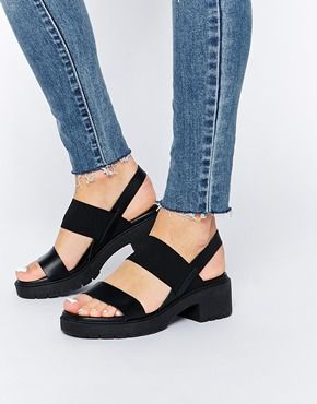 Enlarge ASOS HOME STRAIGHT Leather Heeled Sandals