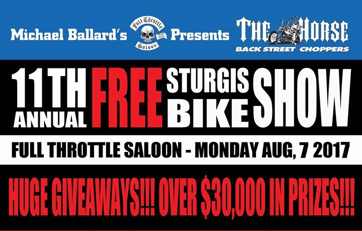Free RIDE IN Bike Show in Sturgis at Full Throttle Saloon, Sturgis