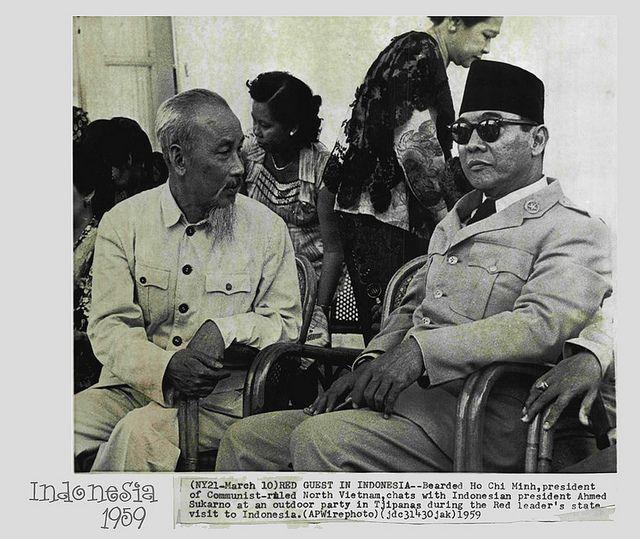Ho Chi Minh y Sukarno.