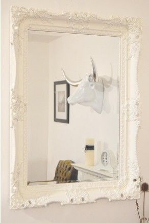 Large White Wall Mirror 30 best shabby chic mirrors images on pinterest | shabby chic