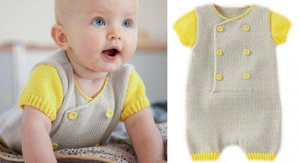 Combinaison bébé tricot explications gratuite en français
