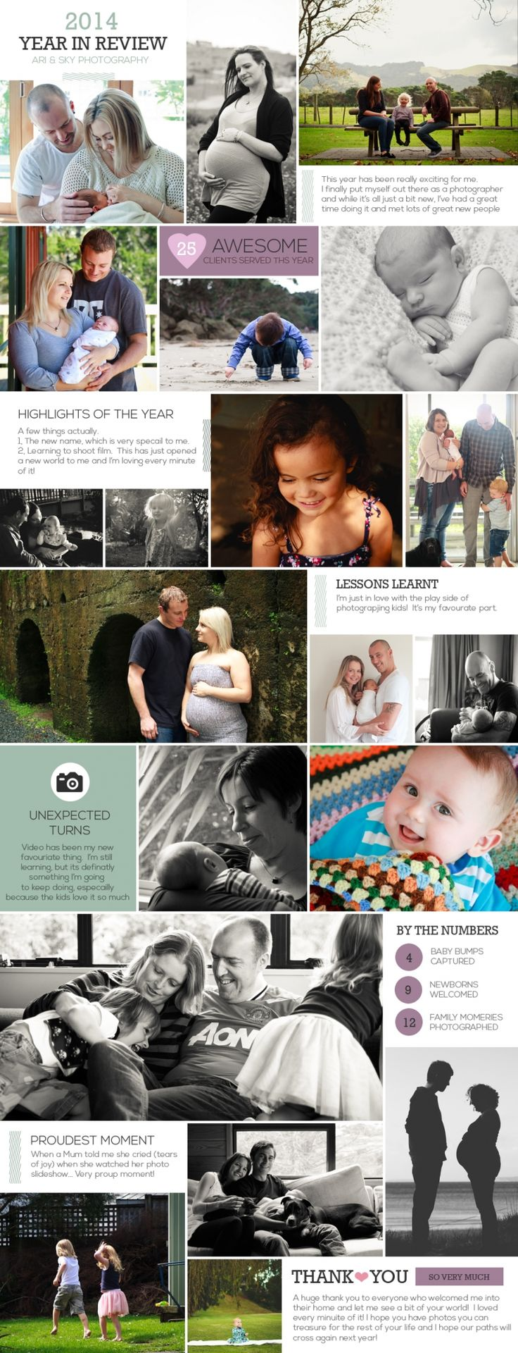Ari & Sky Photography - Year In Review Blog Post Board