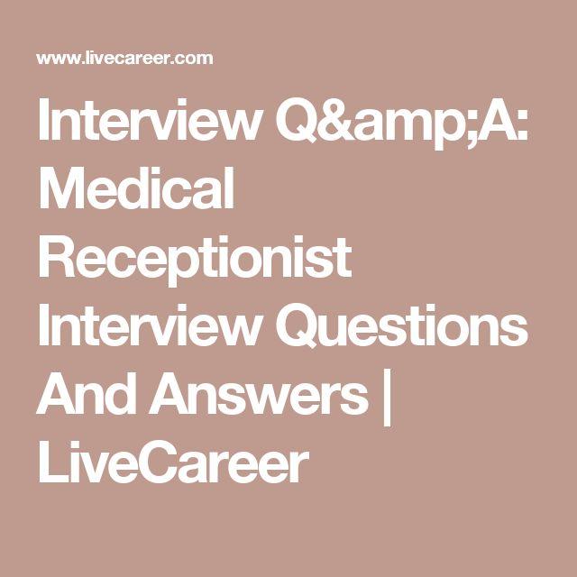 25+ parasta ideaa Receptionist Pinterestissä - sample of a receptionist resume