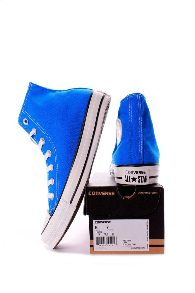 CHUCK TAYLOR ALL STAR HI ELECTRIC BLUE LEMONADE/WHITE 139781F MEN CONVERSE