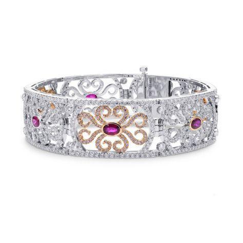 Extraordinary Ruby & Pink Diamond Bracelet sku: 181465