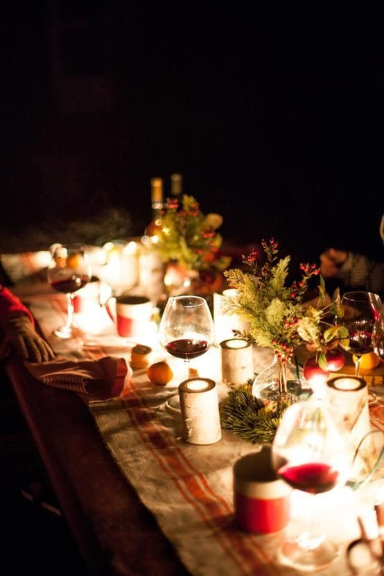 Exciting Table Decorations For Christmas Party: Impressive Outdoor Holiday  Table Decorating Ideas: Astounding Outdoor Christmas Table Settings A Dining  ... Part 92