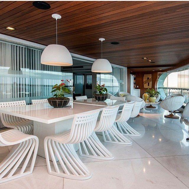 Uau! Olha Que Varanda Maravilhosa Gente!!! Projeto Marília Bezerra  Arquitetura Veja +. Home DesignChairBuffetVeranda ...