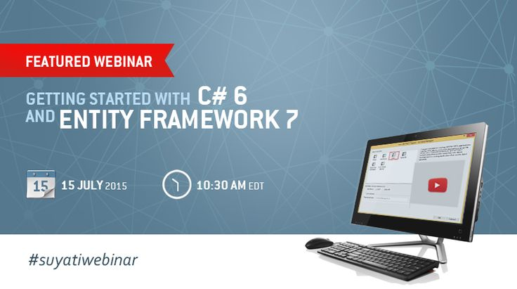 Join our webinar and get ready for a whole new way to write C# code with the soon to be released C# 6