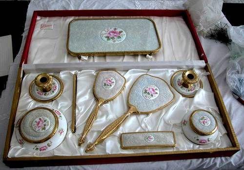 vintage dressing table set  2