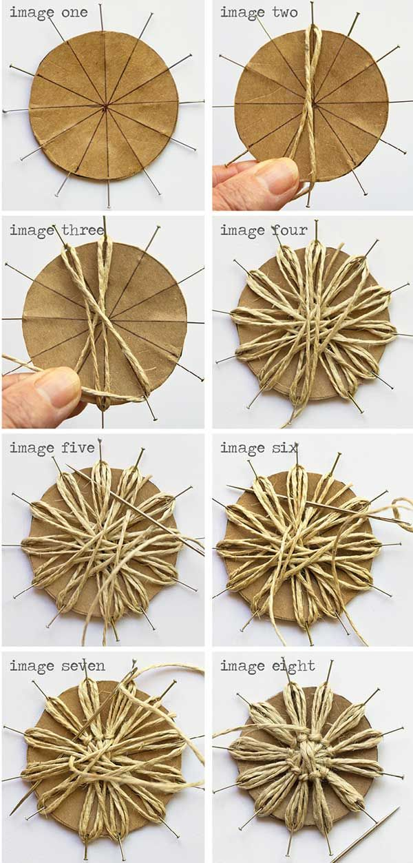 DIY Twine Flower Instructions                                                                                                                                                      More