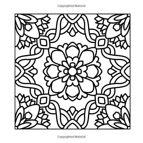 Flowers For Crayons And Wide Tipped Markers Angie Grace 9781493609185 Amazon Coloring SheetsAdult ColoringColouringMosaic